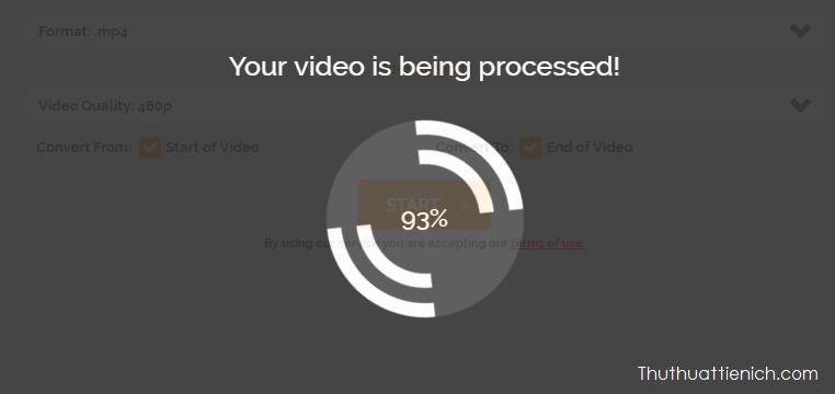 Chờ chút để video của bạn được chuyển đổi
