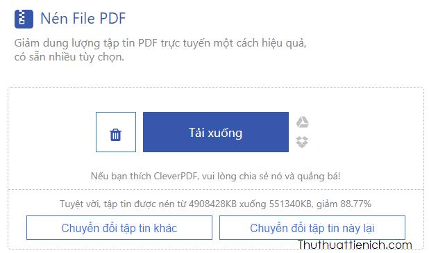 file PDF giảm được 88,77%
