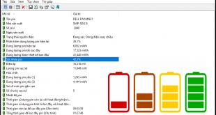 BatteryInfoView - Phần mềm kiểm tra độ chai pin laptop nhanh, chính xác