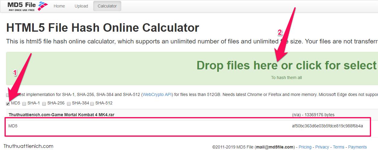 Check MD5 Online nhanh, chính xác, không cần phần mềm