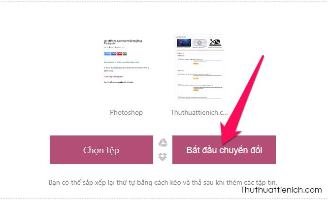 Nhấn nút Bắt đầu chuyển đổi để ghép-nối các file PDF