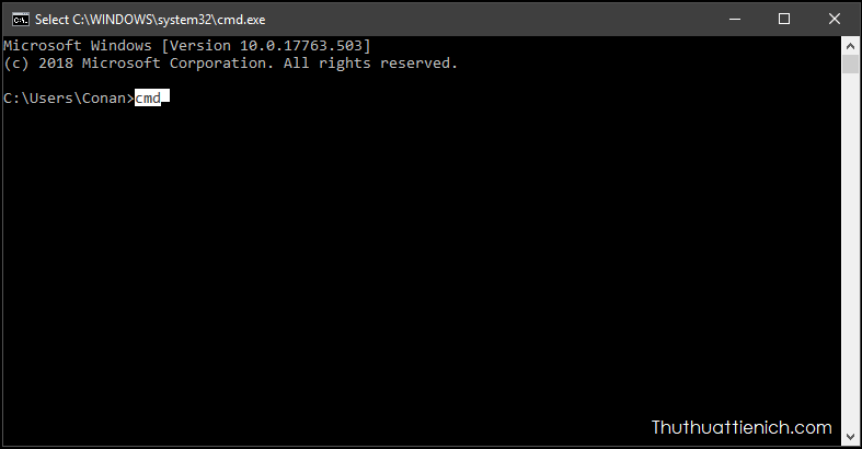 Phím tắt Command Prompt (CMD)