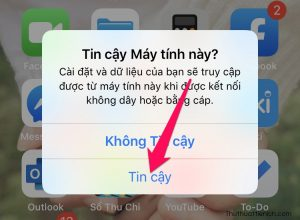 Mở iPhone chọn Tin cậy