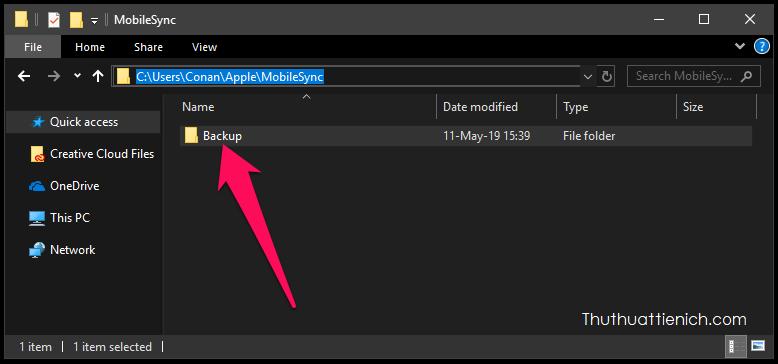 Di chuyển thư mục backup ra khỏi thư mục cài đặt Windows là an toàn
