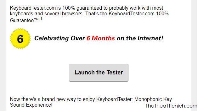Nhấn nút Launch the Tester
