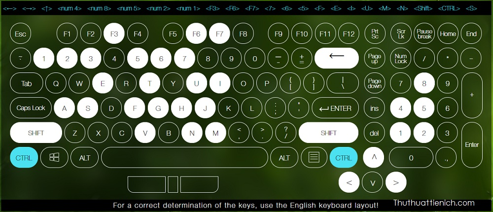 Test bàn phím Online với key-test.ru