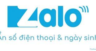 Cách ẩn số điện thoại & ngày sinh Zalo