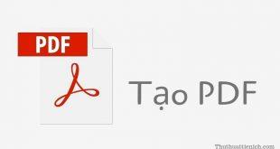 Cách tạo file PDF