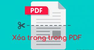 Cách xóa trang trong PDF
