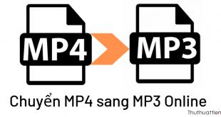 Cách chuyển mp4 sang mp3 Online