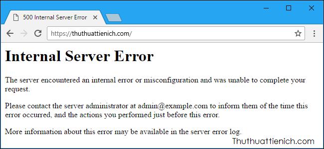 Lỗi HTTP Error 500