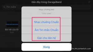 Bạn có thể chọn bài hát này làm: nhạc chuông chuẩn, âm tin nhắn chuẩn hoặc gán cho liên hệ