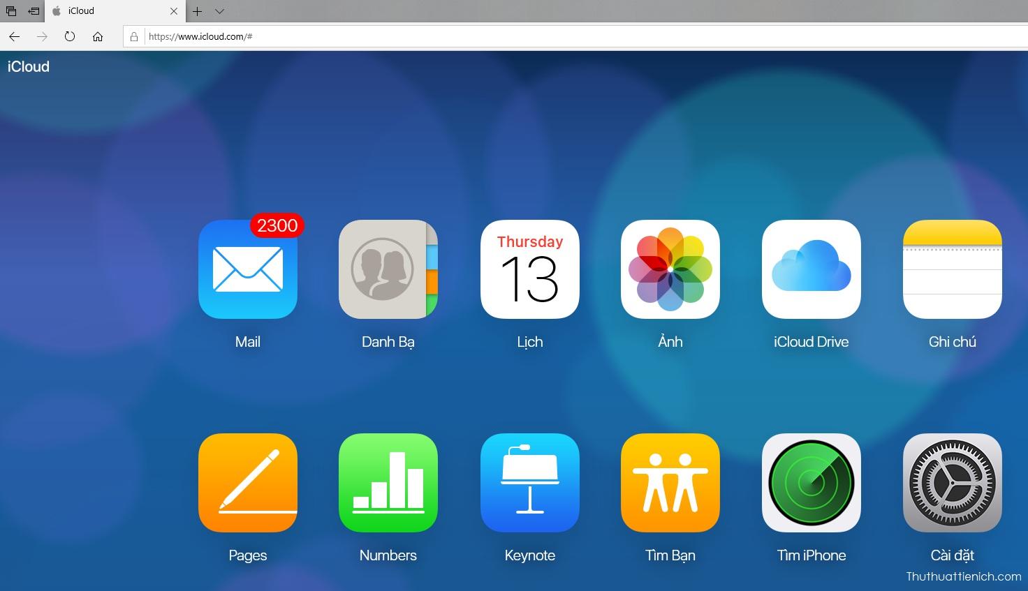 Giao diện iCloud web