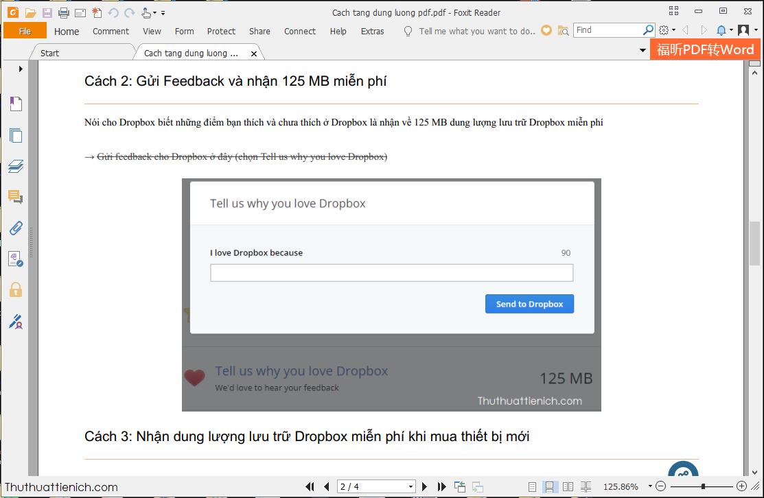 Đọc file PDF bằng phần mềm Foxit Reader