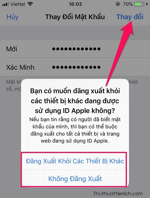 Lúc này, bạn được đưa trở lại trang Mật khẩu & Bảo mật là đã đổi mật khẩu iCloud thành công rồi đó