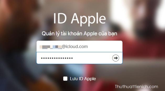 Đăng nhập với tài khoản iCloud của bạn