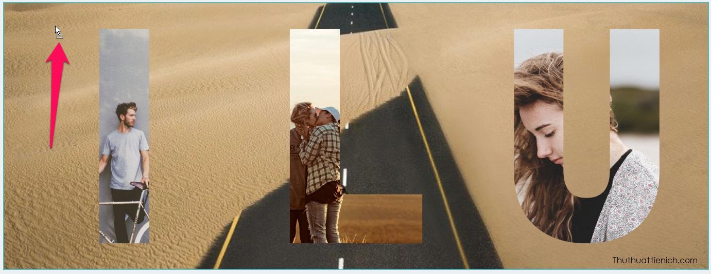 Sau khi hoàn thành các khung hình, bạn kéo một hình ảnh muốn làm background (hình nền) vào vị trí ngoài các khung hình