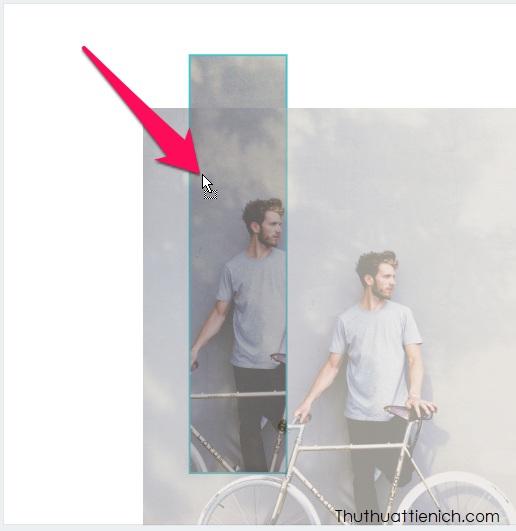 Kéo hình ảnh vừa upload vào khung hình cho đến khi hình ảnh được lồng vào khung hình là được