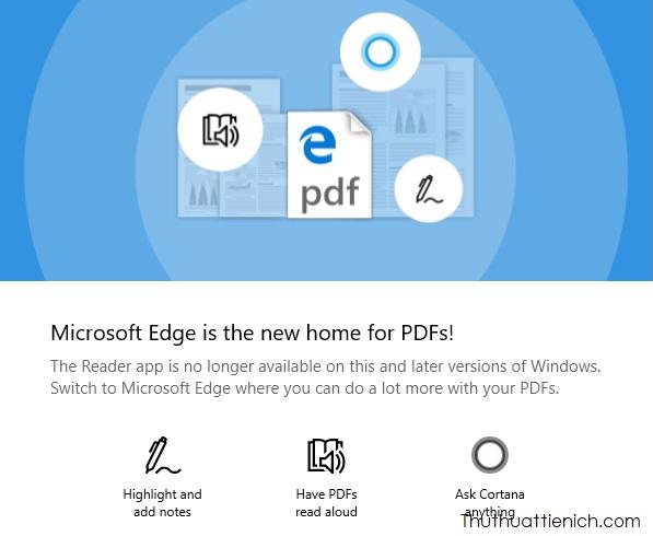 Microsoft thay thế trình đọc PDF Reader bằng Microsoft Edge