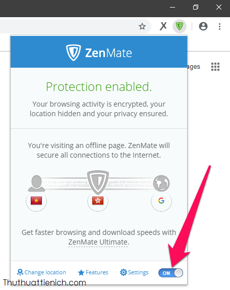 Các tùy chọn của ZenMate