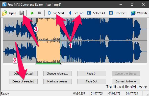 Hướng dẫn sử dụng phần mềm MP3 Cutter and Editor