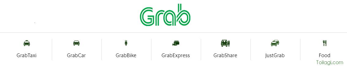 Những loại xe và dịch vụ của Grab