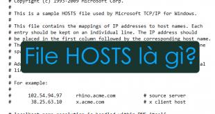 File Hosts là gì? Cách sửa file hosts để vào Facebook