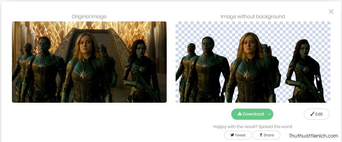Một số kết quả hình ảnh tách nền bằng Remove.bg