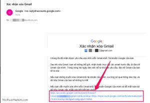 Mở email nhập ở bước 4, nhấn vào liên kết trong email