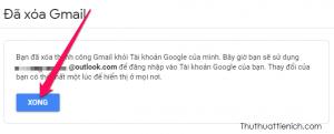Tài khoản Gmail của bạn đã bị xoá vĩnh viễn