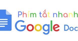 Phím tắt nhanh Google Docs