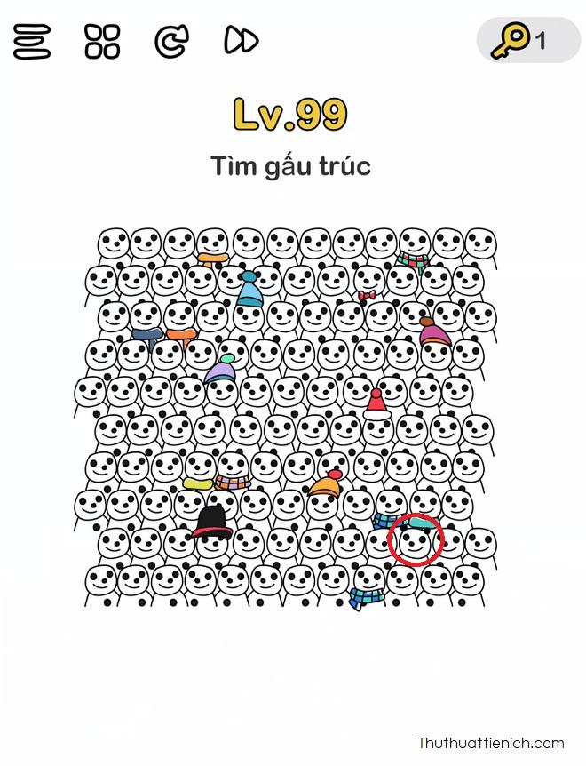Đáp án Level 99 game Brain Out