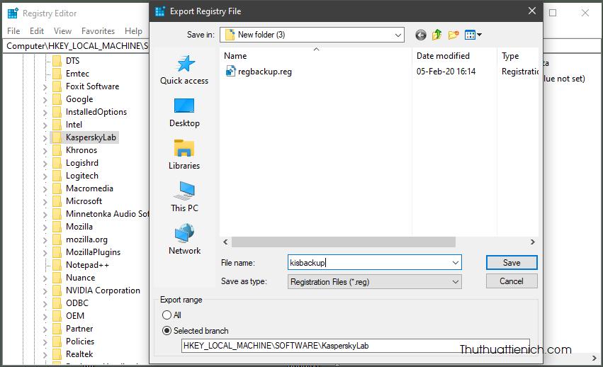 Chọn nơi lưu file backup, đặt tên file rồi nhấn nút Save