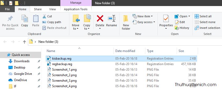 Sao khi quá trình tạo file backup hoàn tất, bạn sẽ thấy một file *.reg trong thư mục chọn ở trên