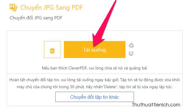 Nhấn nút Tải xuống để tải file PDF về máy tính