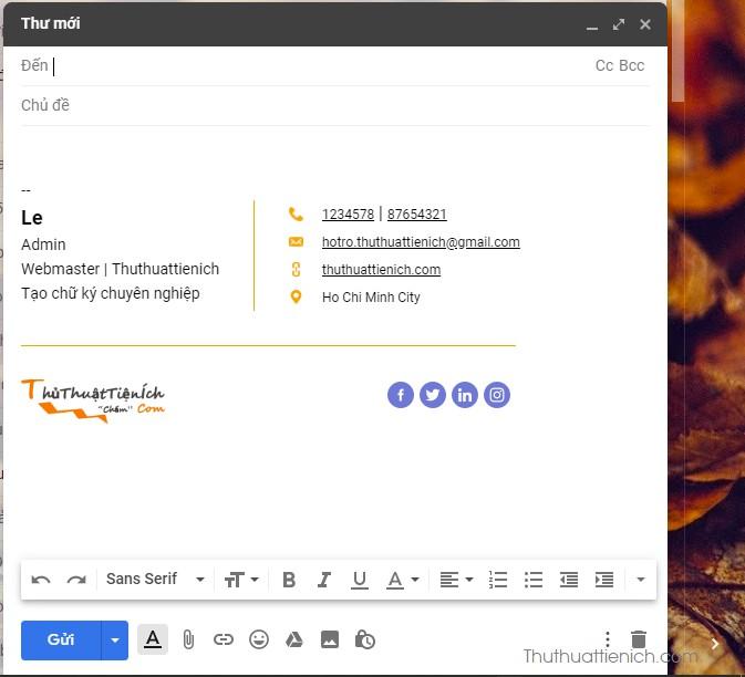 Tạo chữ ký Gmail chuyên nghiệp với Hubspot