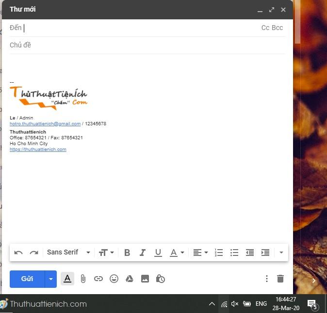 Tạo chữ ký Gmail chuyên nghiệp với HTMLSig