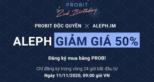 Giảm giá 50% ALEPH trên nền tảng Độc quyền của Sàn giao dịch ProBit