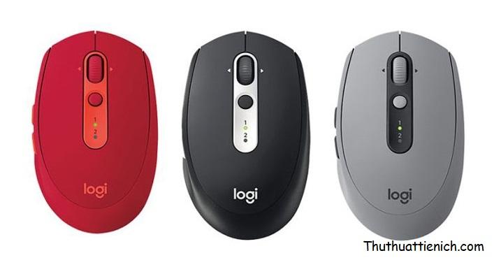 Logitech M590 Slient với 3 màu đỏ, đen và xám