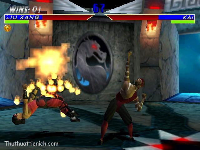 Hình ảnh trong game rồng đen Mortal Kombat MK4