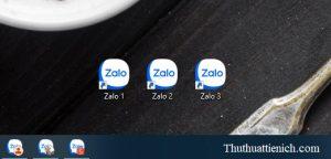 Lúc này bạn sẽ thấy nhiều biểu tượng Zalo trên màn hình desktop